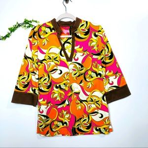Lilly Pulitzer Butterfly Tunic Shirt Top